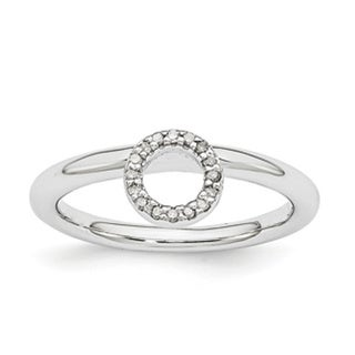 Sterling Silver Affordable Expressions Rhodium Halo Diamond Ring