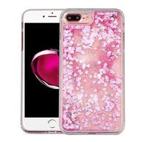 Insten Pink Hearts Hard Snap-on Glitter Case Cover For Apple iPhone 7 Plus
