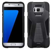 Insten Black Hard PC/ Silicone Dual Layer Hybrid Case Cover with Stand For Samsung Galaxy S8 Plus S8+