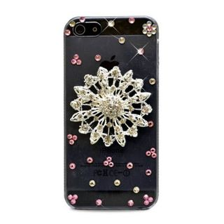 Insten Clear/ Silver 3D Circle Flower Hard Snap-on Diamond Bling Case Cover For Apple iPhone 5/ 5S