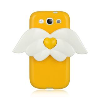 Insten Yellow/ White 3D Angel Hard Snap-on Case Cover For Samsung Galaxy S3 I747