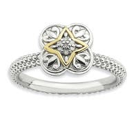 Sterling Silver and 14 Karat Affordable Expressions Diamond Ring