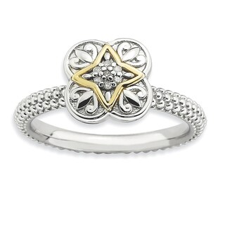 Sterling Silver & 14k Affordable Expressions Diamond Ring