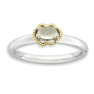 Sterling Silver & Affordable Expressions Moonstone Polished Ring