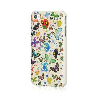 Insten Colorful Butterfly TPU Rubber Candy Skin Case Cover For Apple iPhone 4