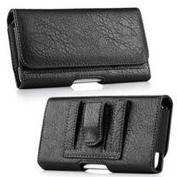 Insten Black Leatherette Case Cover with Belt Clip/ Wallet Flap Pouch For HTC One M7,Samsung Galaxy S6 SM-G920/ S7