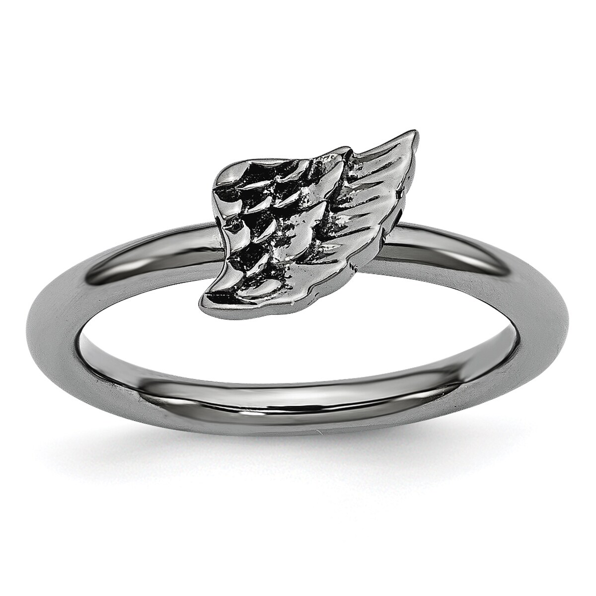 Sterling Silver Affordable Expressions Black-plated Angel...