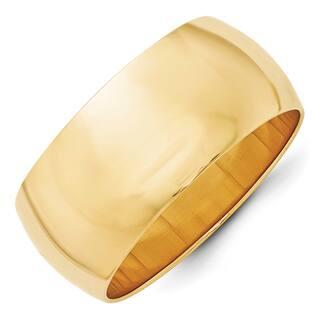 14 Karat Yellow Gold 10mm Half Round Band|https://ak1.ostkcdn.com/images/products/15896052/P22301359.jpg?impolicy=medium