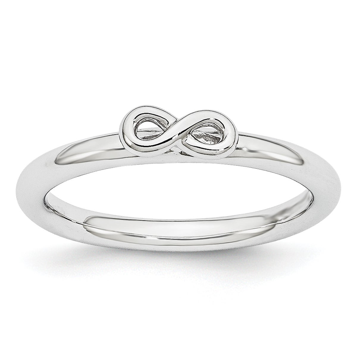 Sterling Silver Affordable Expressions Rhodium Infinity Symbol Ring