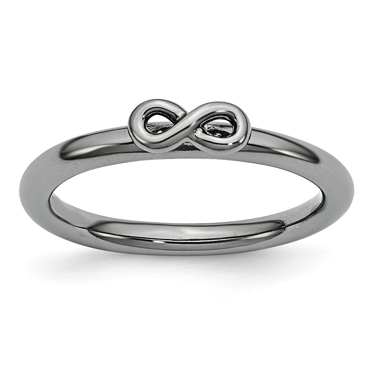 Sterling Silver Affordable Expressions Black-Plated Infin...