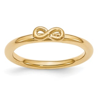 Sterling Silver Affordable Expressions YG-plated Infinity Symbol Ring