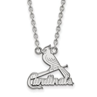 Sterling Silver St. Louis Cardinals Large Pendant With Necklace