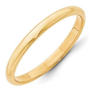 14 Karat Yellow Gold 2mm Half Round Band|https://ak1.ostkcdn.com/images/products/15896751/P22302361.jpg?impolicy=medium