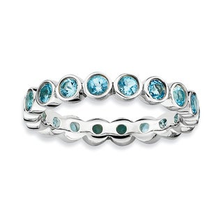 Sterling Silver Affordable Expressions Blue Topaz Ring