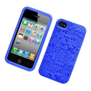Insten 3D Soft Silicone Skin Rubber Case Cover For Apple iPhone 4/ 4S
