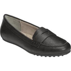 Women's Aerosoles Drive In Loafer Black Faux Leather