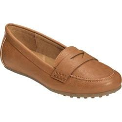 Women's Aerosoles Drive In Loafer Dark Tan Faux Leather