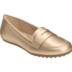 Women's Aerosoles Drive In Loafer Gold Faux Leather