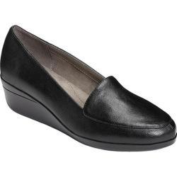 Women's Aerosoles True Match Wedge Black Faux Leather