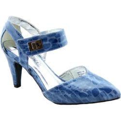 Women's Bellini Magic Two Piece Ankle Strap Blue Croc Polyurethane