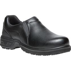 Men's Propet Zane Slip On Shoe Black Leather