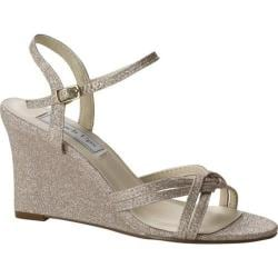 Women's Touch Ups Buffy Wedge Sandal Champagne Glitter