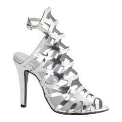 Women's Touch Ups Mercury Cage Sandal Silver Mirror Patent