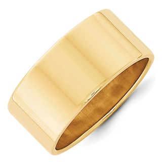14K Yellow Gold Polished 10mm Lightweight Flat Band by Versil