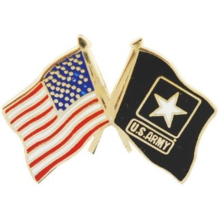 Shop American And Us Army Star Crossed Flags Pin On Sale