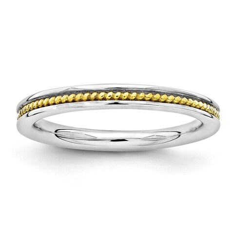 Sterling Silver Affordable Expressions Gold-plated Channeled Ring