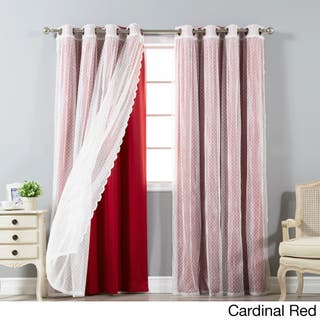 Red 96 Inches Curtains Amp Drapes For Less Overstock Com