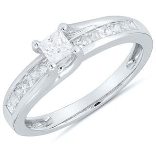 14kt White Gold, 1/2ct TDW Diamond Engagement Ring