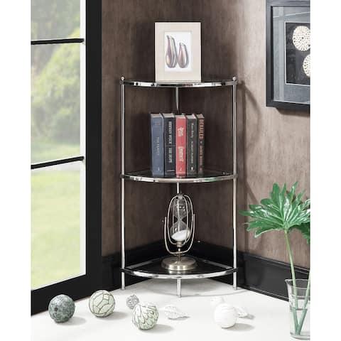 Silver Orchid Farrar 3-tier Corner Shelf