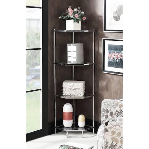 Silver Orchid Farrar 4-tier Corner Shelf
