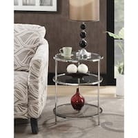 Convenience Concepts Royal Crest 3 Tier Round End Table
