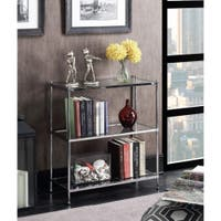 Deals on Silver Orchid Farrar 3-tier Bookcase
