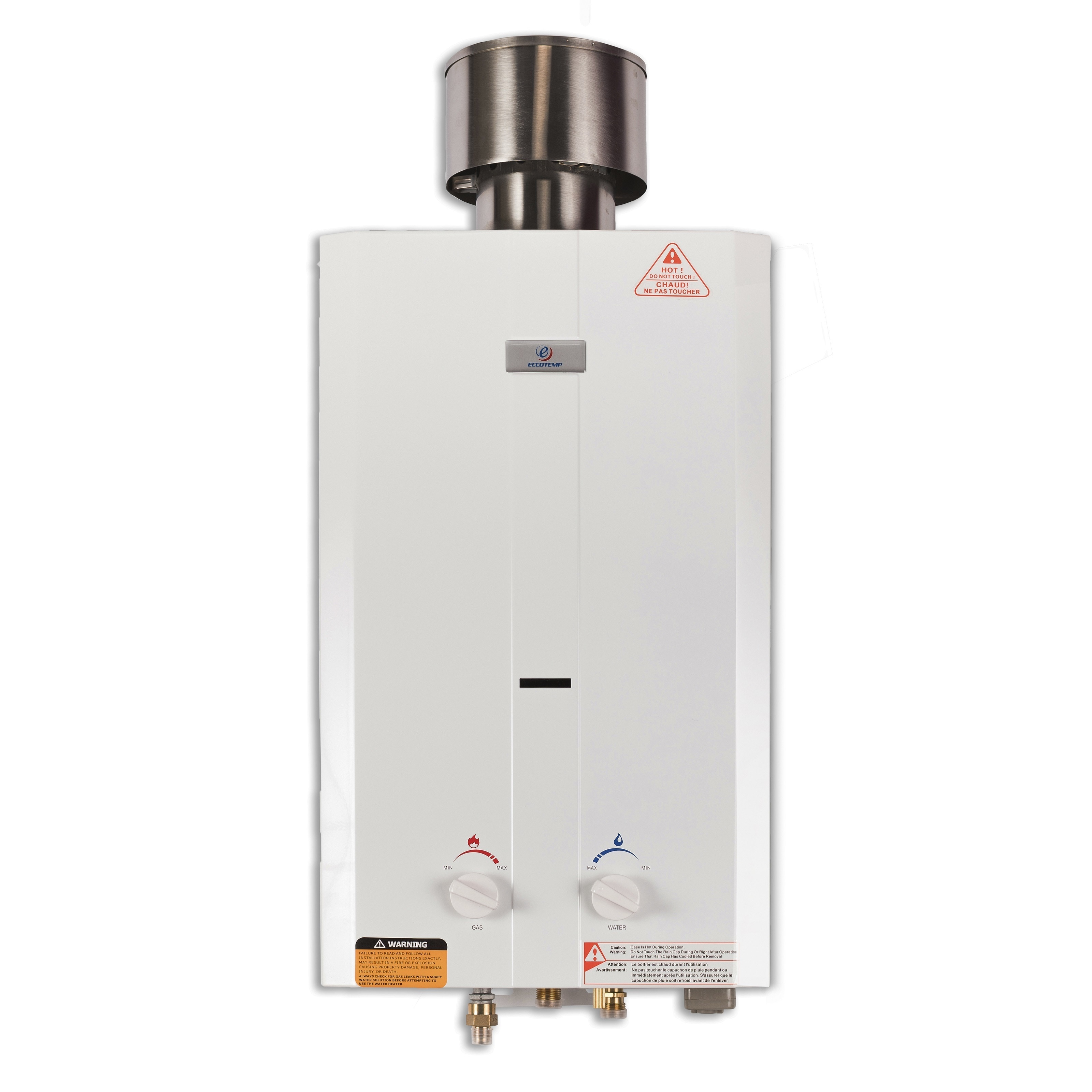Eccotemp L10 Portable Outdoor Tankless Water Heater w/ Sh...