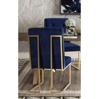 blue dining room chairs. Akiko Navy Velvet Chair (Set Of 2) Blue Dining Room Chairs H
