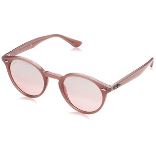 Ray-Ban RB2180 Unisex Pink Frame Silver/Pink Gradient Mirror 49mm Lens Sunglasses