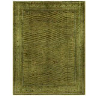 Herat Oriental Persian Hand-knotted Mir Wool Rug (9'9 x 12'8)