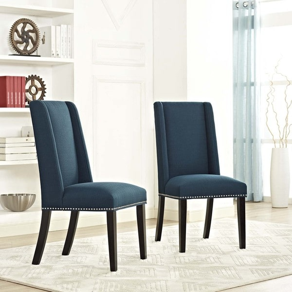 Modway Baron Fabric Upholstered Dining Chairs (Set of 2). Opens flyout.