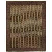 Handmade Herat Oriental Persian Turkoman Wool Rug (Iran) - 10' x 12'6
