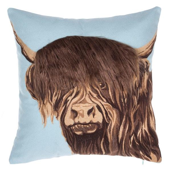 Himalayan Yak Cotton Throw Pillow 18 x 18