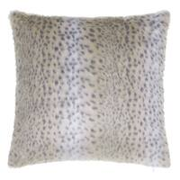 Clay Alder Home Fairview Snow Leopard Faux Fur Throw Pillow 20 x 20