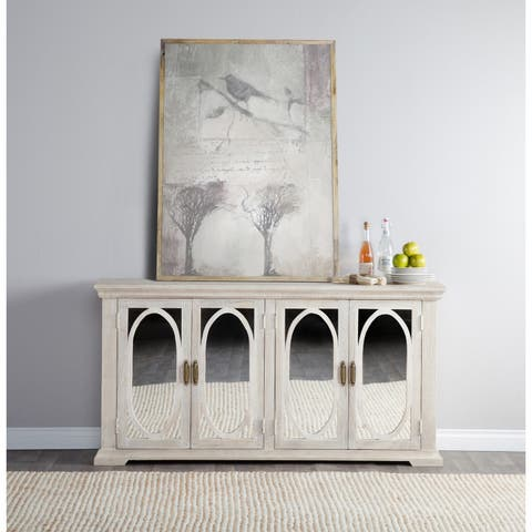 Manchester Wood Mirrored 70-inch Sideboard by Kosas Home