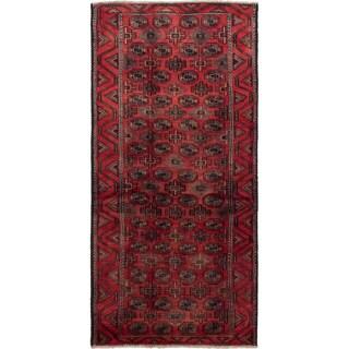 ecarpetgallery Finest Baluch Red Wool Rug (3'6 x 7'6)