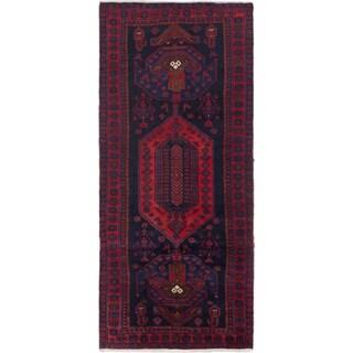 ecarpetgallery Persian Vintage Blue Wool Rug (4'3 x 9'6)
