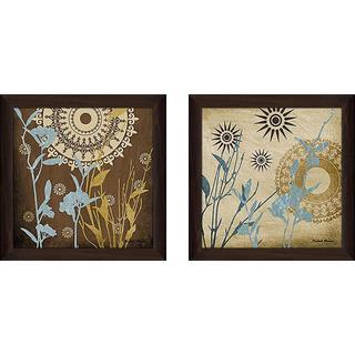 """Botanical Silhoeuttes III"" Wall Art Set of 2, Matching Set"