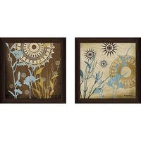"""Botanical Silhoeuttes III"" Wall Art Set of 2, Matching Set"