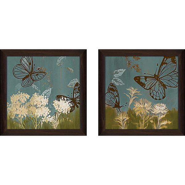 """Blue Day In May II"" Wall Art Set of 2, Matching Set"